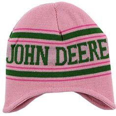 CLEARANCE ALERT!   John Deere Pink Knit Beanie Hat O/S Youth (4-16)