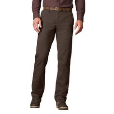 Big & Tall Men's SONOMA Goods for Life™ Twill Straight-Fit Flat-Front Pants, Size: