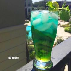 The Under the Sea cocktail! Sweet and seductive, this drink looks great and has the perfect blend of sweet and sour to mask that kick. To see how we did it, visit us here: http://www.tipsybartender.com/blog/2015/9/9/under-the-sea