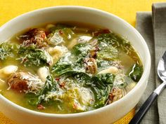 Get Sausage-Bean Soup Recipe from Food Network