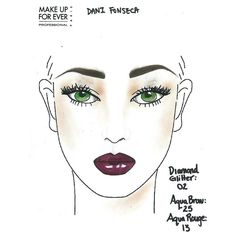 Make Up For Ever Face Chart