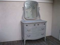 Chic and Shabby Gray Dresser