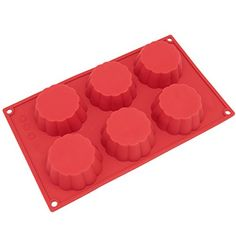 Freshware SL114RD 6Cavity Wide Silicone Mold for Homemade Tart Bundt Cake Cheesecake Pudding Jello and More >>> Find out more about the great product at the image link. (This is an affiliate link) #BakersPansPlates