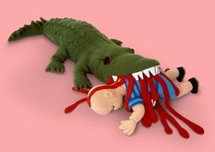 Patricia Waller is an artist with an interesting sense of humor. Here are some of her brilliantly bizarre crocheted works of plush toys knitted into cruel death scenes . Perhaps these dolls are the perfect gift for your next baby shower. Creepy Stuffed Animals, Dinosaur Stuffed Animal, Weird Toys, Creepy Kids, Scary, Wool Art, Soft Sculpture, Toy Store, Cat Toys