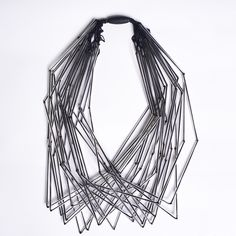 Ann Cox | Classic 6 necklace | Winter 2014 | vintage glass tubes & synthetic silk