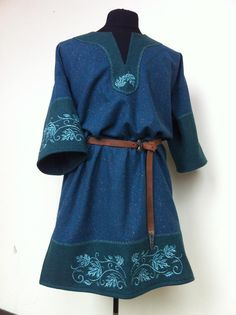 Fae fairy Celtic Tunic blue by *RobynGoodfellow