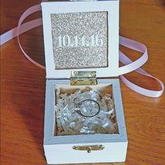 Sparkling Ring Bearer Box Engagement Ring Box by CraftsBySkate