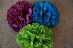 10 Tissue Paper Pom Poms  Your Color by SweetandSavvyDesigns, $30.00