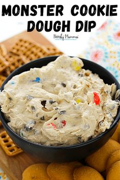 Monster Cookie Dough Dip - Monsterifically Delicious Dip - Nerdy Mamma