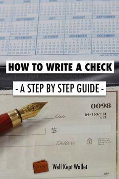 How do i write a personal check to someone
