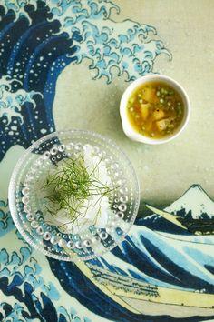 アオリイカとフェンネルの塩レモンマリネ