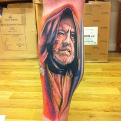 Sick Obi-wan kenobi Star Wars tattoo by Cecil Porter