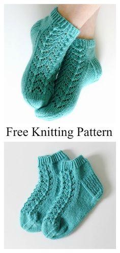 Knitted Socks Free Pattern, Crochet Socks, Knitted Slippers, Knitting Socks, Knitting Stitches, Free Knitting, Knit Socks, Crochet Granny, Knitting Machine
