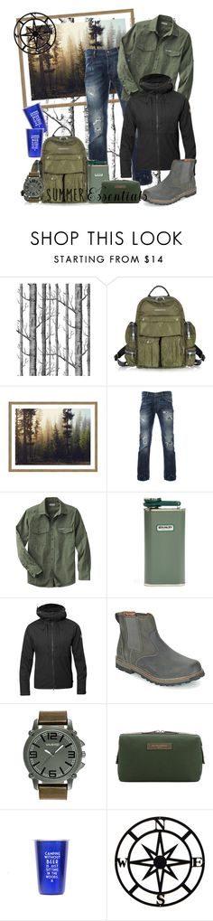 """""""Summer Camping"""" by nikkimmorrison ❤ liked on Polyvore featuring Dsquared2, Stanley Furniture, Fjällräven, Keen Footwear, Kenneth Cole, Want Les Essentiels de la Vie, men's fashion, menswear and summermenswearessentials"""