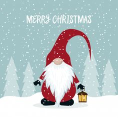 Christmas card with funny gnomes Royalty Free Vector Image Christmas Rock, Diy Christmas Cards, Christmas Humor, Winter Christmas, Christmas Holidays, Merry Christmas, Illustration Noel, Christmas Illustration, Christmas Drawing