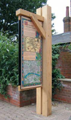 Banner display freestanding interpretation signage
