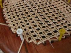 Chair Caning - How To Pt.2.  Finish with shellac or boiled linseed oil.  For continued protection, apply the oil once a year.