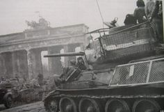 85 Soviet Tank Photo: Mesh screened 85 in front of the Brandenburg Gate in Berlin. This Photo was uploaded by T 34 85, Ww2 Pictures, Brandenburg Gate, Tank Destroyer, Ww2 Tanks, Red Army, German Army, Panzer, War Machine