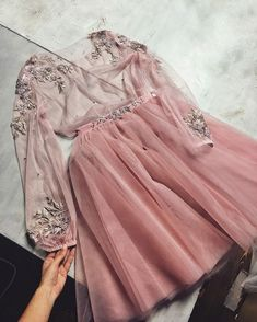 Sexy Party Women Dress Cute Blush Pink Tulle See Through Homecoming Dress For Girls - Abschlussball Kleider Pretty Dresses, Beautiful Dresses, Short Dresses, Girls Dresses, Vetement Fashion, Homecoming Dresses, Wedding Dresses, Designer Dresses, Ideias Fashion