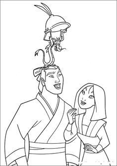 Shang Mushu Mulan Character Coloring Pages