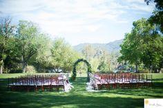 malibou lake mountain club wedding ceremony