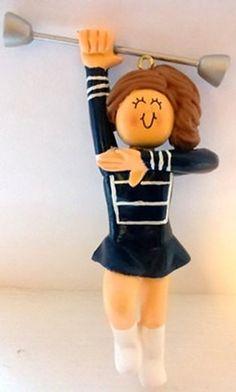 Personalized Baton Twirler Gift for Baton Twirler - Baton Twirler Team Gifts - Customize Entire Uniform, Hair Color, and Skin Tone