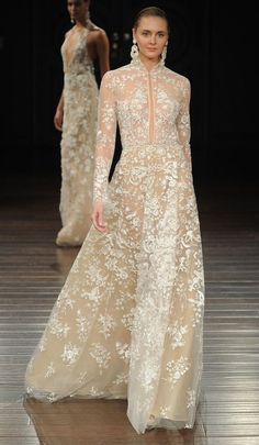 Naeem Khan Spring 2017 long sleeves wedding dress - Deer Pearl Flowers / http://www.deerpearlflowers.com/wedding-dress-inspiration/naeem-khan-spring-2017-long-sleeves-wedding-dress/