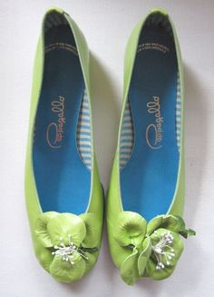 Vintage Mint Green Papagallo Shoes. Wish I could still find these but can't wear in the rain!  My wedding shoes only in white!!!