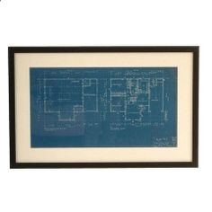 Framed Vintage Architectural Blueprint I by Chairish | Chairish