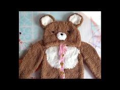 How to Knit Baby Clothes: Chenille Rilakkuma Woolen sweater 1/2 - YouTube