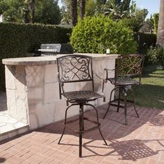 Shop for Casselberry Cast Aluminum Outdoor Bar Stool (Set of by Christopher Knight Home. Get free delivery On EVERYTHING* Overstock - Your Online Garden & Patio Shop!