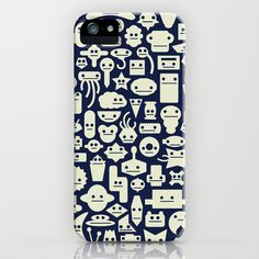 Shapes With Faces iPhone Case by David Soames - $35.00