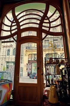 Budapest Art Nouveau. Secessio Café   Flickr - Photo Sharing!