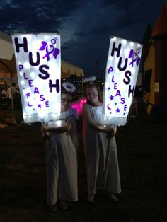 A good way to quiet people down for the luminaria ceremony. Hendersonville,NC Relay For Life Hush Angels