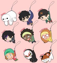 Big hero 6 hangys. i forgot what they were called but THERE SO CUTE!!