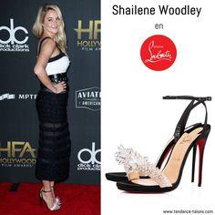 "Shailene Woodley en sandales ""Crystal Queen"" signées Louboutin au 21st Annual Hollywood Film Awards à Beverly Hills"