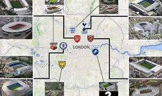 The changing face of London football: How clubs are following Arsenal English Football Stadiums, London Football, London Clubs, Arsenal, Face, Faces, Facial