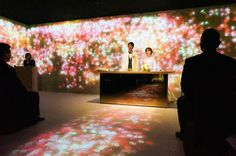 Watch out florists. Flowers are an integral part of weddings and a huge business for florists. But now Japan's acclaimed tech collective TeamLab wants to 'disrupt,' if you will, that industr Tokyo Hotels, Installation Art, Wedding Ceremony, Marriage, Bridal, Concert, Digital Art, Wedding Lighting, Fashion News