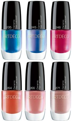 Artdeco Butterfly Dreams Collection Ceramic Nail Lacquers. Colorful Nail Designs, Nail Polish Designs, Makeup Trends, Nail Care, Diy Beauty, Pretty Nails, Nail Colors, Art Deco, Butterfly