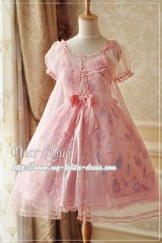 NOTE - this is for the shear overlay not the dress - Dear Celine ***Midsummer Dream*** Lolita Surface Layer Dress $34.99 - My Lolita Dress