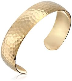 14k Gold-Filled Hammered Cuff Bracelet -- Learn more by visiting the image link.