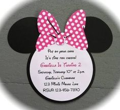 41 printable birthday party cards invitations for kids to make image result for minnie mouse invitations solutioingenieria Choice Image