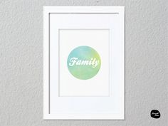 FAMILY WALL ART - Home Decor Print - Family Circle Design by HannahDeanDesigns on Etsy