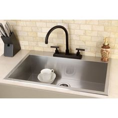 Update your home with a brand new kitchen sink with a classic appearance. The 9-inch deep bowl accommodates large pots and cookware for easy food preparation and cleaning.
