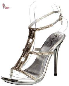 Unze Evening Sandals, Sandales femme - Noir (L18844W), 36 EUUnze