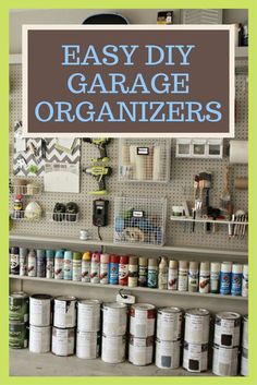 The garage is more than a place to park the car. It's a place to store gardening equipment, sports equipment, off-season supplies, tools and more. Keeping a garage organized can be a real challenge. But these DIY garage organizers and storage solutions can help you keep an organized garage, so there is actually place to park the car.