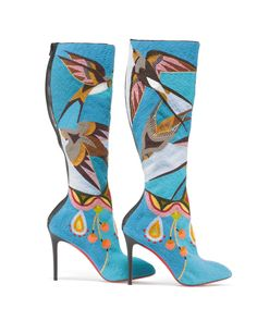 Jamie Okuma (Luiseño/Shoshone-Bannock) boots (2013–14), glass beads on boots designed by Christian Louboutin (photo by Walter Silver)