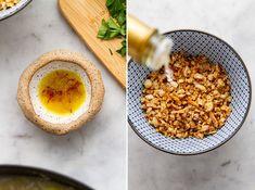 Saffron Potato Leek Soup with rice and fried garlic and almonds is a delicious twist on potato leek soup! It's wonderfully hearty, gluten free and vegan! Asian Chicken Wraps, Fried Garlic, Potato Leek Soup, Almonds, Slow Cooker, Fries, Vegan Recipes, Gluten Free, Potatoes