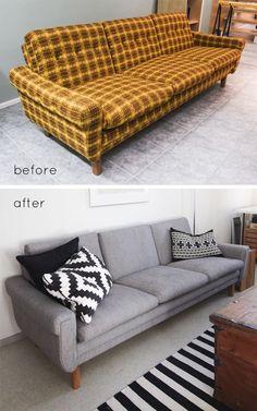 Sofa makeover inspiration