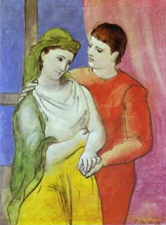 The Lovers, Pablo Picasso. My parents had a reprint of this in their bedroom when I was a child, so it's got a special place in my heart.